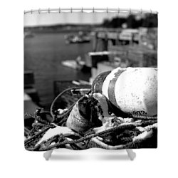 Lobster Traps 07 Shower Curtain by Timothy Bischoff