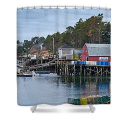 Lobstering Shower Curtain by Guy Whiteley