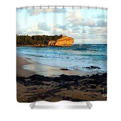 Local Surf Spot Kauai Shower Curtain