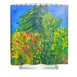 Local Trees Shower Curtain