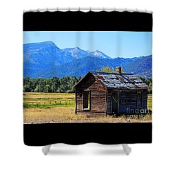 Shower Curtain featuring the photograph Location Location Location Montana by Joseph J Stevens