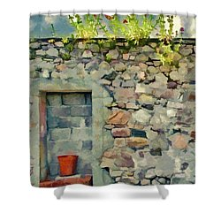 Shower Curtain featuring the painting Location With A View by Jeff Kolker