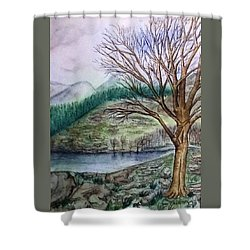 Loch Ard Stirling Overlooking Loch A'ghleannain Shower Curtain
