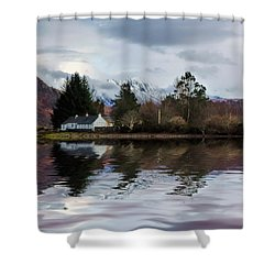 Loch Etive Reflections Shower Curtain