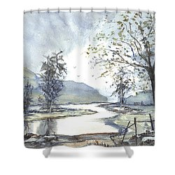 Loch Goil Scotland Shower Curtain by Carol Wisniewski