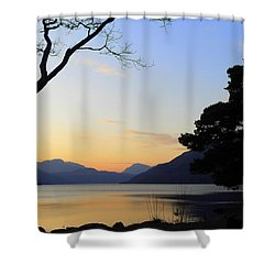 Loch Lomond Sunset Shower Curtain by The Creative Minds Art and Photography