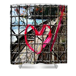 Shower Curtain featuring the photograph Lock And Love.cinque Terre.italy by Jennie Breeze