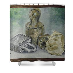 Locked And Anchored Shower Curtain