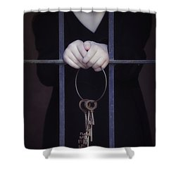 Locked-in Shower Curtain by Joana Kruse
