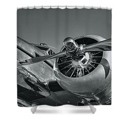 Lockheed 12a Electra Junior  Shower Curtain by Olga Hamilton