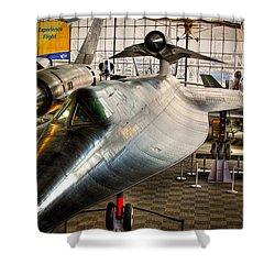 Lockheed M-21 Blackbird Shower Curtain by David Patterson