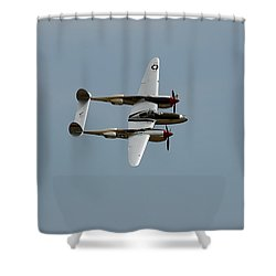 Lockheed P 38 Lightning Shower Curtain by Richard J Cassato