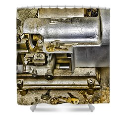 Locksmith - The Key Maker Shower Curtain by Paul Ward