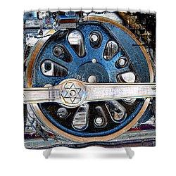 Loco Wheel Shower Curtain