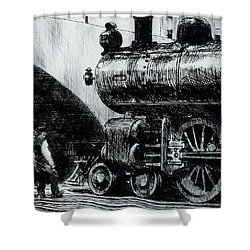 Locomotive Shower Curtain by Edward Hopper