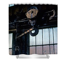 Locomotive Hook Shower Curtain by Richard Rizzo