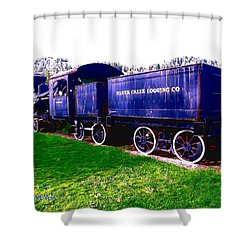Shower Curtain featuring the photograph Locomotive Steam Engine by Sadie Reneau