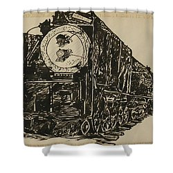 Locomotive Study Shower Curtain