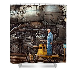 Locomotive - The Gandy Dancer  Shower Curtain by Mike Savad