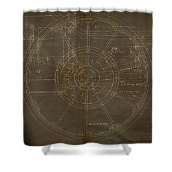 Locomotive Wheel Shower Curtain by James Christopher Hill
