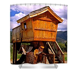 Log Cabin Penthouse Shower Curtain