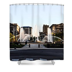Logan Square Philadelphia Shower Curtain by Bill Cannon