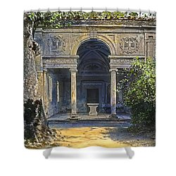 Loggia Of The Muses Shower Curtain by Terry Reynoldson