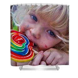 Shower Curtain featuring the photograph Lollipop Bliss by Lanita Williams