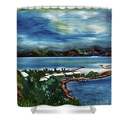 Loloata Island Shower Curtain