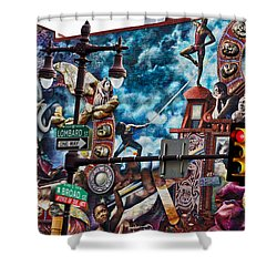 Lombard And Broad Shower Curtain