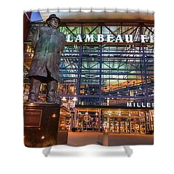 Lombardi At Lambeau Shower Curtain by Bill Pevlor