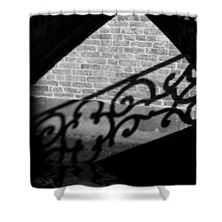 L'ombra - Venice Shower Curtain by Lisa Parrish