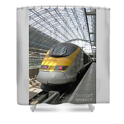 London Arrival Shower Curtain