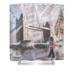 London Blue Shower Curtain