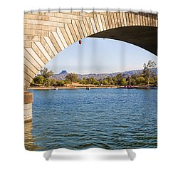 London Bridge At Lake Havasu City Shower Curtain