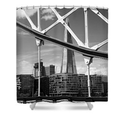 Shower Curtain featuring the photograph London Bridge With The Shard by Chevy Fleet