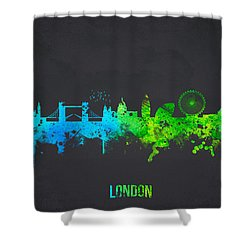 London England Shower Curtain by Aged Pixel