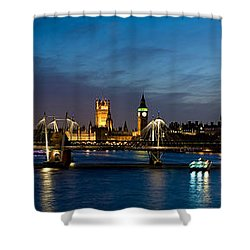 London Eye And Central London Skyline Shower Curtain by Panoramic Images