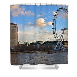 London Eye And Shell Building Shower Curtain