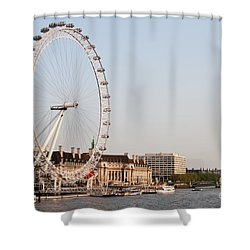 Shower Curtain featuring the photograph London Eye Day by Matt Malloy