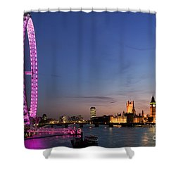 London Eye Shower Curtain by Rod McLean