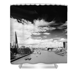 Shower Curtain featuring the photograph London Panorama by Chevy Fleet