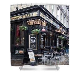 London Pub Shower Curtain by Thomas Marchessault