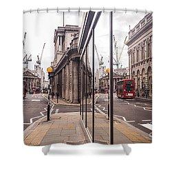 London Reflected Shower Curtain by Matt Malloy