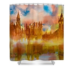 London Rising Shower Curtain