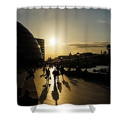 Shower Curtain featuring the photograph London Silhouettes  by Georgia Mizuleva
