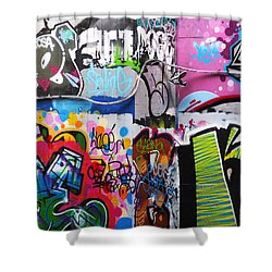 London Skate Park Abstract Shower Curtain by Rona Black