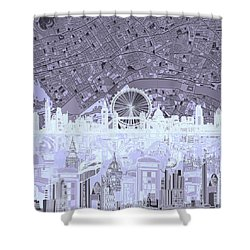 London Skyline Abstract 10 Shower Curtain