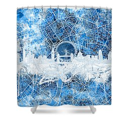 London Skyline Abstract 13 Shower Curtain