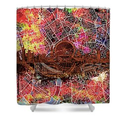 London Skyline Abstract 5 Shower Curtain